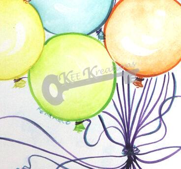 Party Balloons Closeup