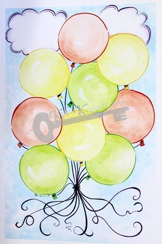 """Party Balloons"" Print"